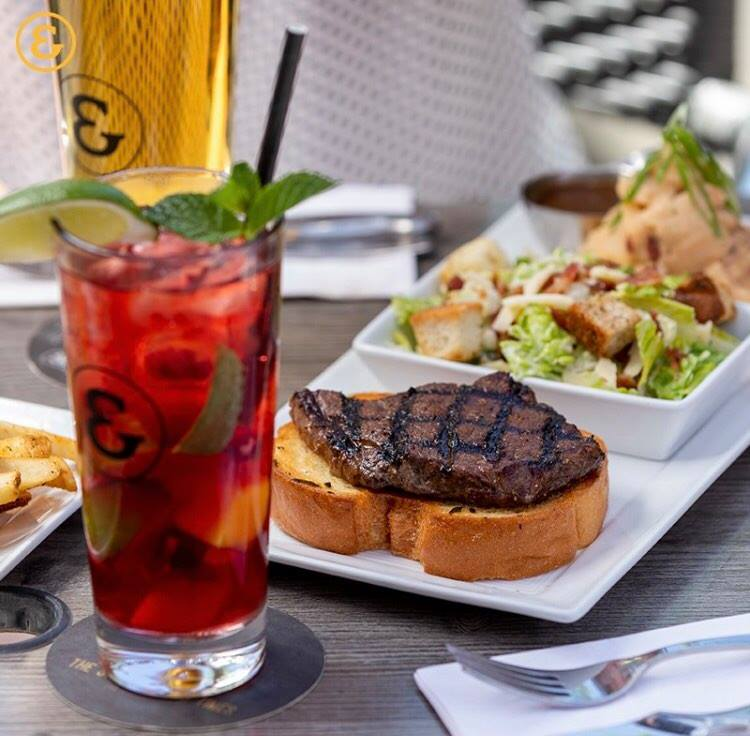 State Smash beside a Steak Sandwich at State & Main